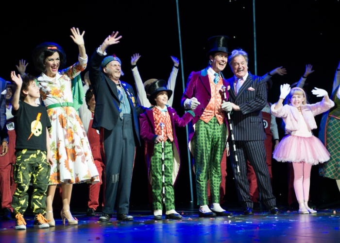 Curtain Call during Charlie and The Chocolate Factory The Musical, 1st Anniversary performance, at the Theatre Royal, Drury Lane - London