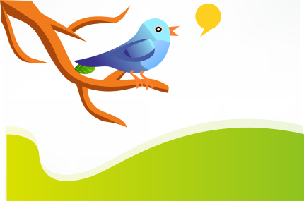 Twitter bird blog image